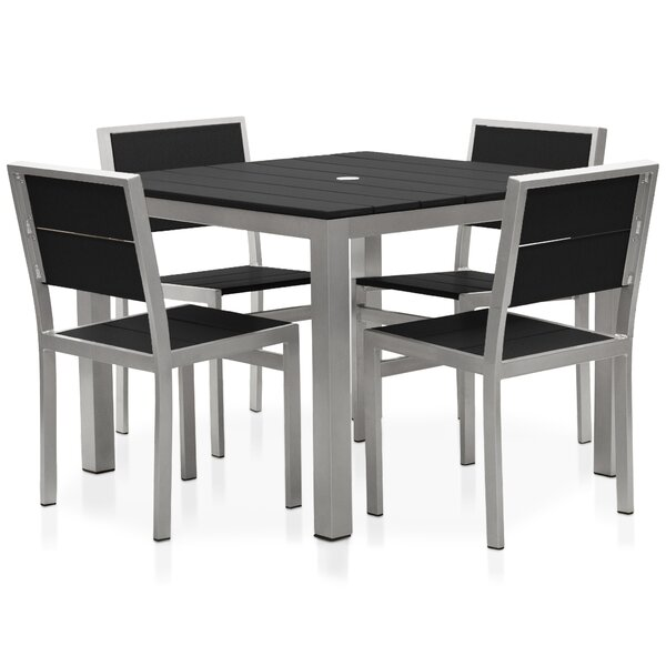 Torrens 5 Piece Dining Set by Rosecliff Heights