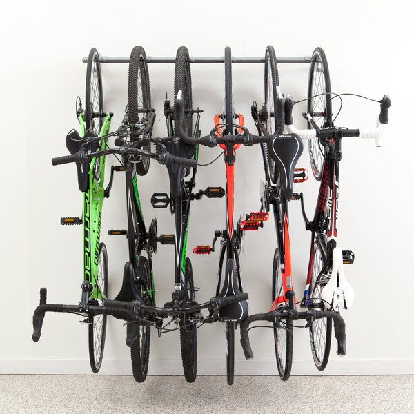 6 Bike Storage Wall Mounted Bike Rack by Monkey Bar Storage