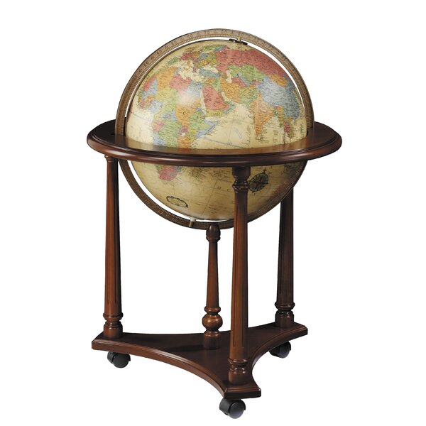 Lafayette Antique Aluminum Floor Globe by Replogle Globes