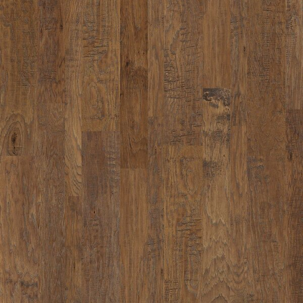 Greensboro Random Width Engineered Hickory Hardwood Flooring in Buckskin by Shaw Floors