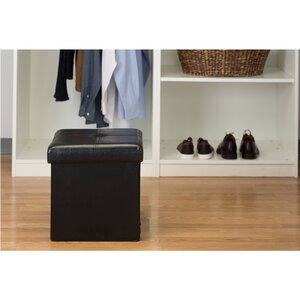 Rockville Single Folding Upholstered Storage Ottoman by Andover Mills