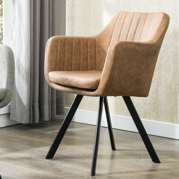 Newson Faux Leather Armchair by Foundry Select
