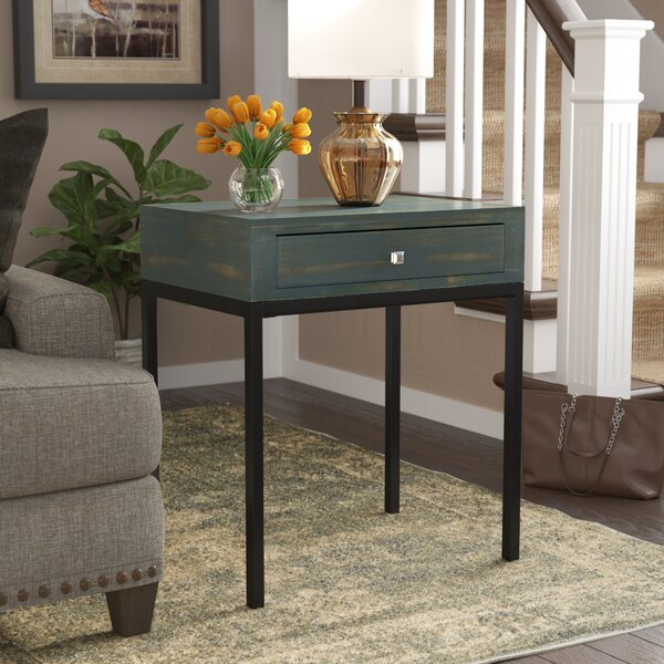 Joanna Solid Wood End Table With Storage By Beachcrest Home