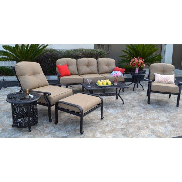 Sidney 7 Piece Sunbrella Sofa Set with Cushions by Three Posts
