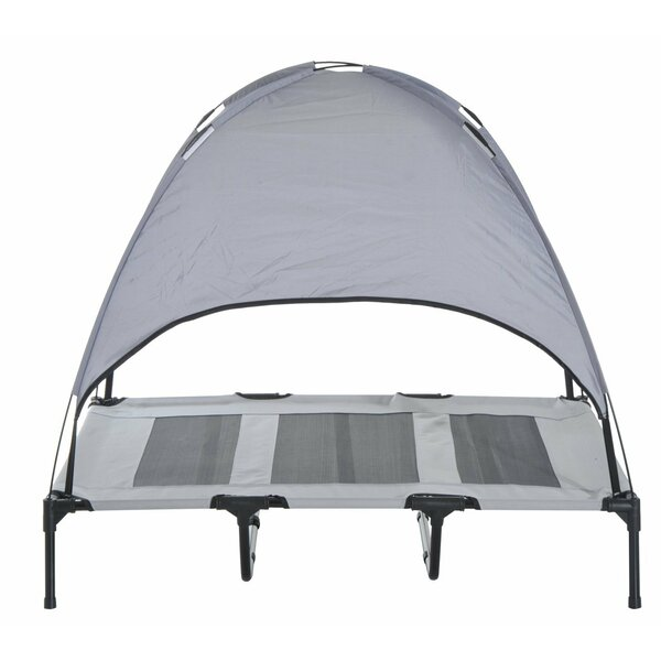 Pawhut Elevated Cooling Cot with Canopy Shade by Pawhut