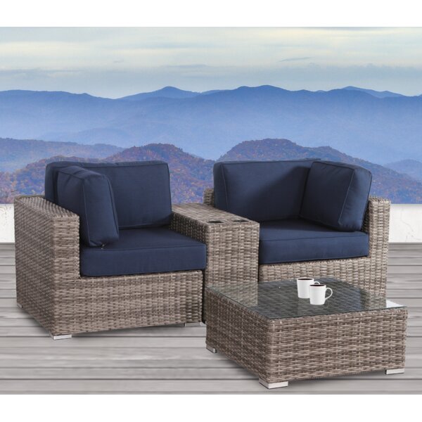 Lazaro 4 Piece Seating Group with Sunbrella Cushions by Sol 72 Outdoor