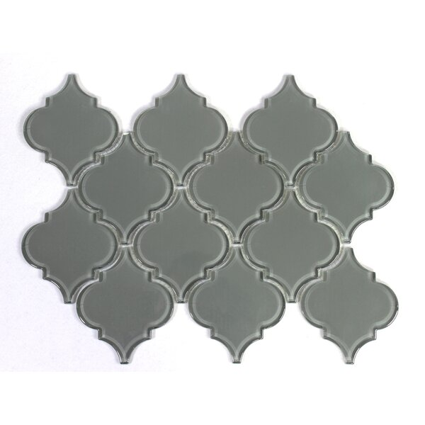 Water Jet 3 x 3 Glass Mosaic Tile in Ocean Gray by WS Tiles