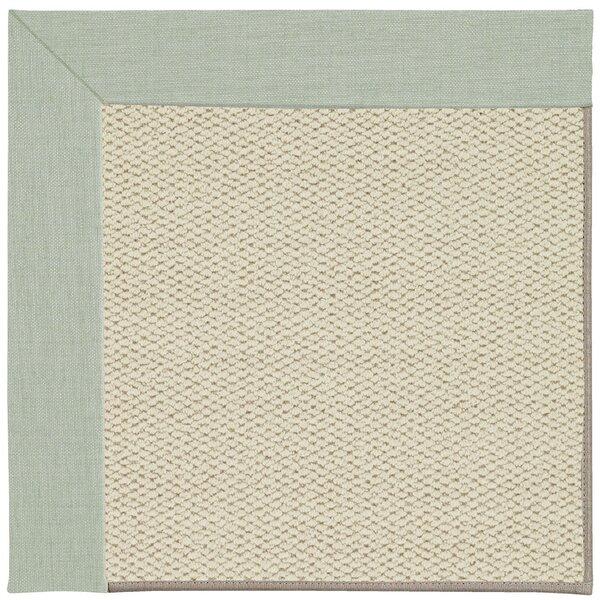 Barrett Linen Machine Tufted Minty/Beige Area Rug by Highland Dunes