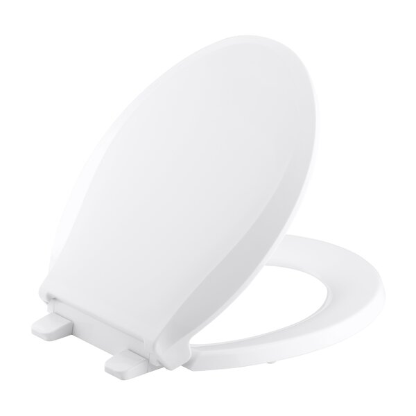 Kohler Cachet Q3 Round Closed-Front Toilet Seat With Quiet-Close Technology, Quick-Attach Hinges And Grip-Tight Bumpers By Kohler.