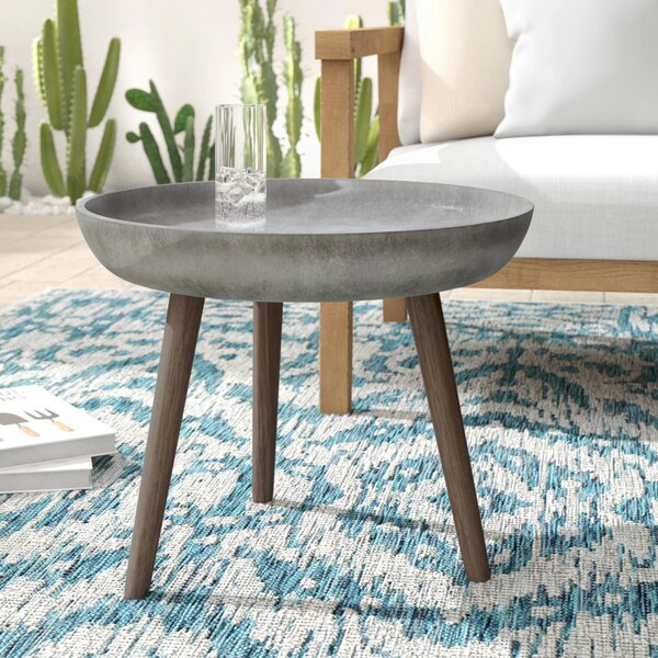 Demona Stone/Concrete Side Table by Mistana