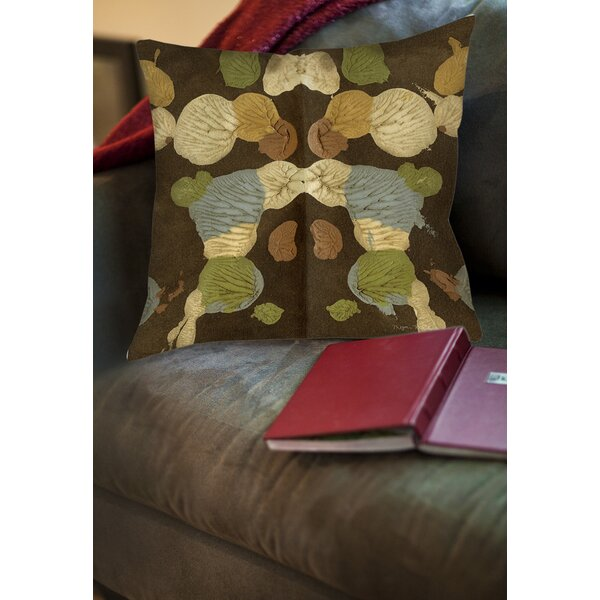 Rorschach Abstract Printed Throw Pillow by Manual Woodworkers & Weavers