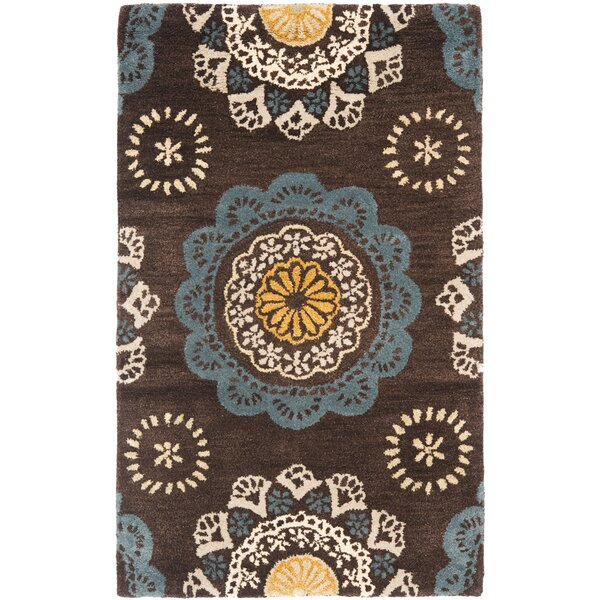 Kouerga Eggplant Brown Area Rug by Bungalow Rose