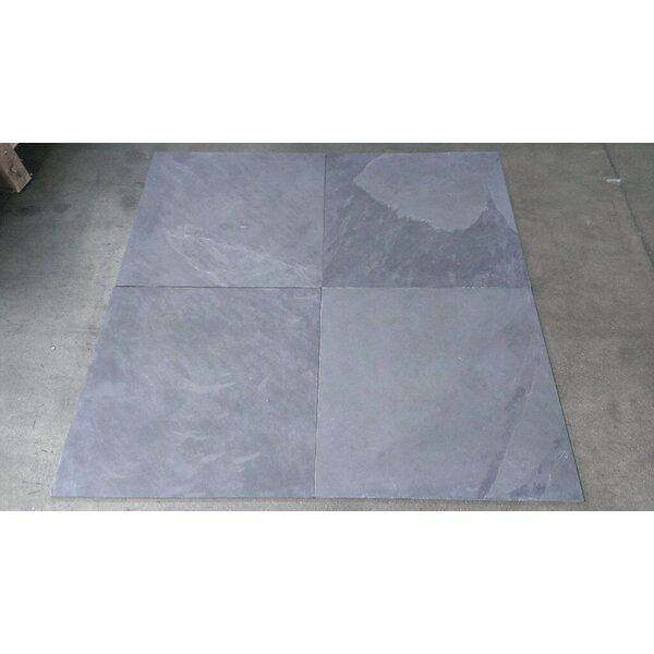 Natural Cleft Face, Gauged Back 16x16 Slate Field Tile