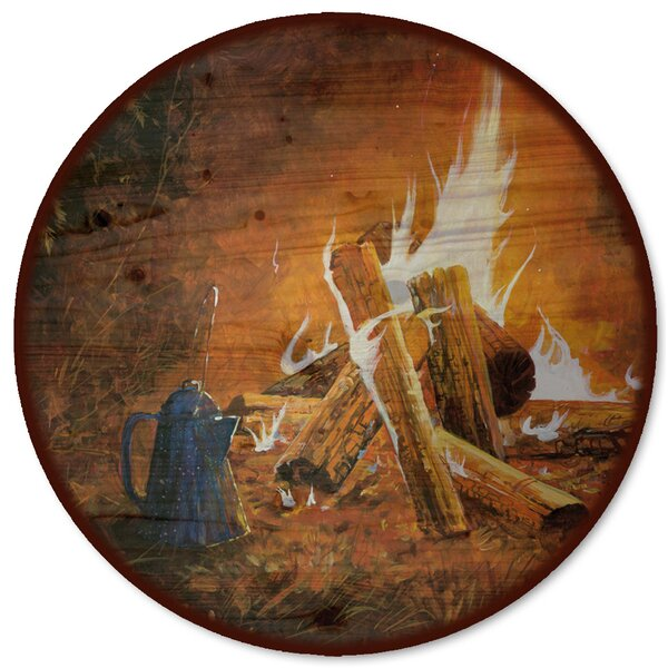 Evening Campfire Lazy Susan by WGI-GALLERY