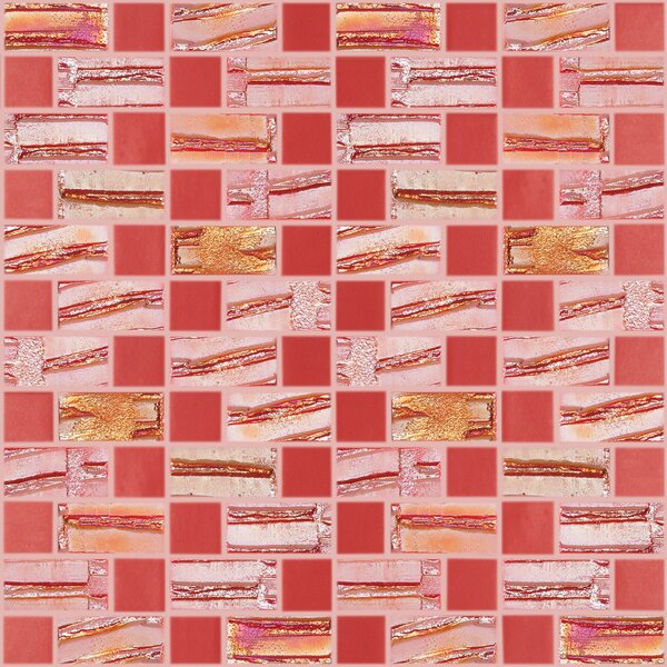 Moon Blends 12.375 W x 12.375 L Eco Glass Mosaic in Scarlet Red by Kellani
