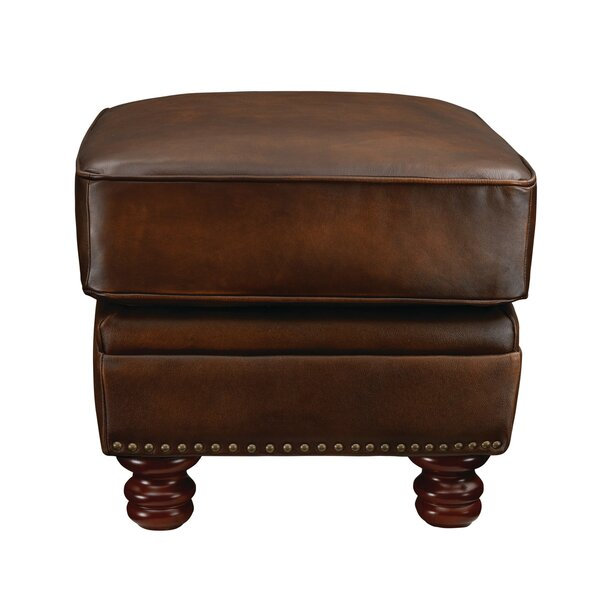 Drumaduan Leather Ottoman by Canora Grey