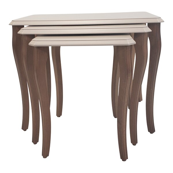 Oswalt Stackable 3 Piece Nesting Tables By Canora Grey
