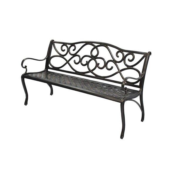 Byrnes Cast Aluminum Garden Bench by Fleur De Lis Living