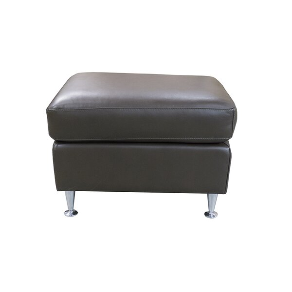 Mei Leather Ottoman by 17 Stories