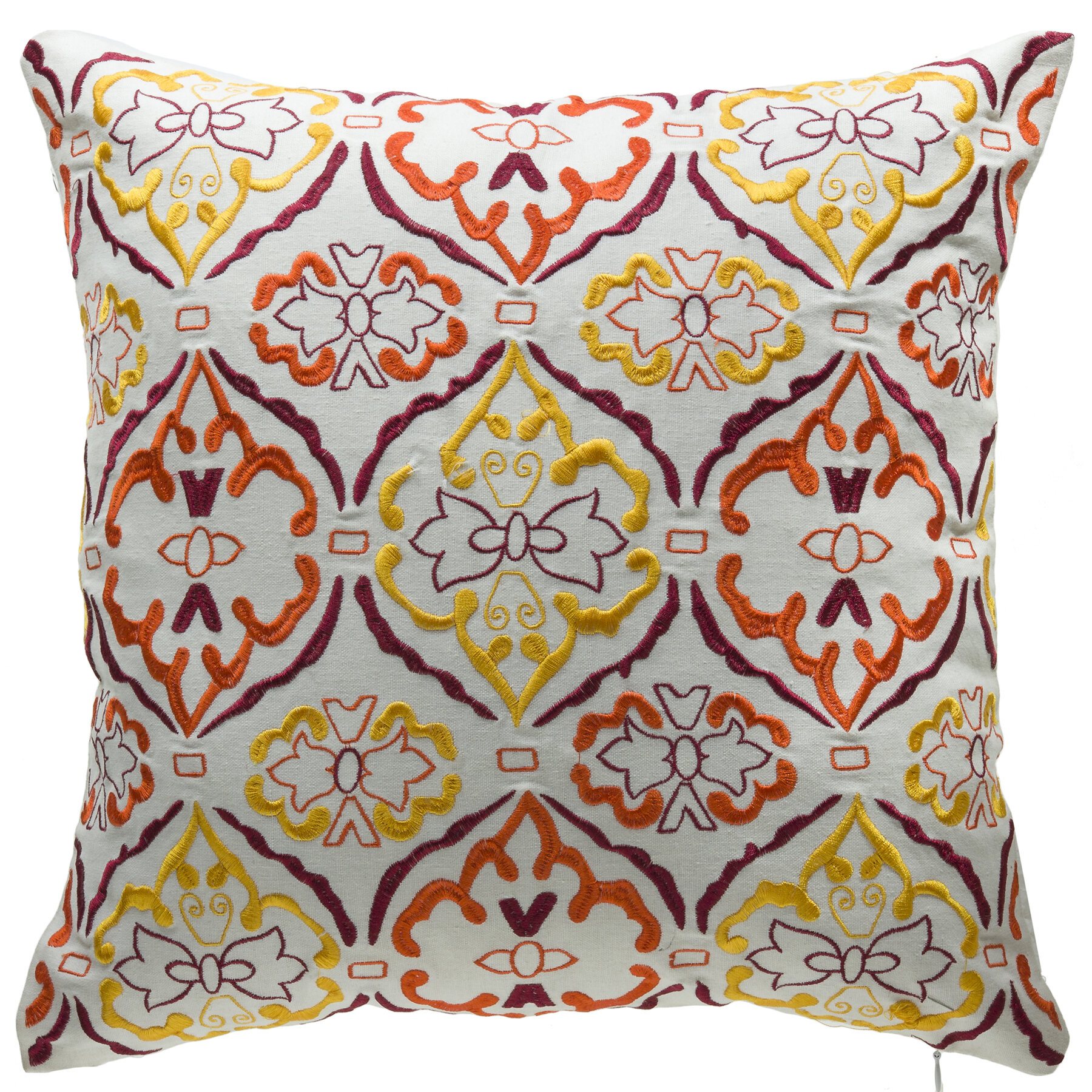 14 Karat Home Inc Sunrise Cotton Blend Throw Pillow Wayfair