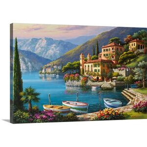Villa Bella Vista by Sung Kim Painting Print on Wrapped Canvas by Great Big Canvas