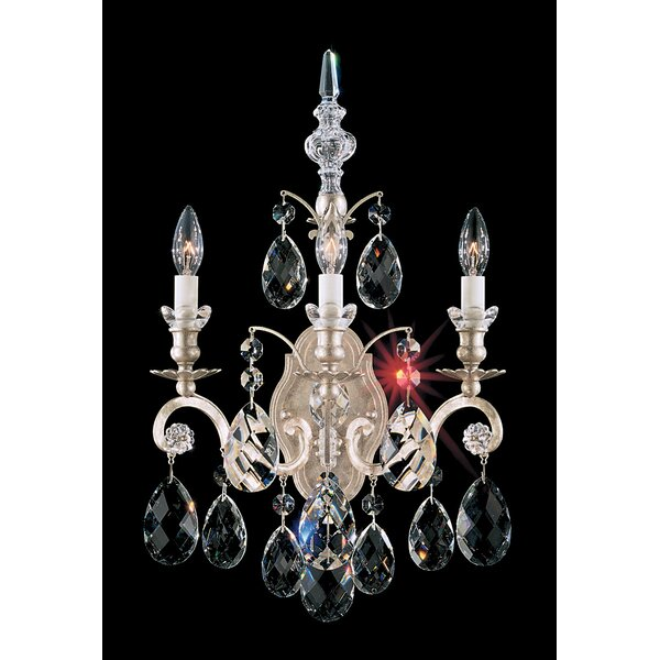 Renaissance 3-Light Candle Wall Light by Schonbek