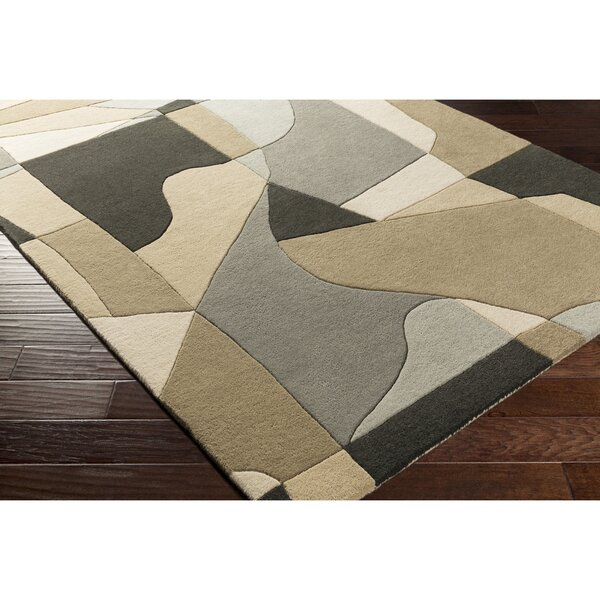 Dewald Hand-Tufted Gray Area Rug by Ebern Designs