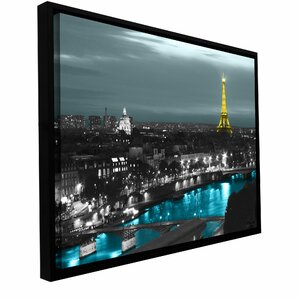 'Paris' Framed Photographic Print on Wrapped Canvas by Zipcode Design