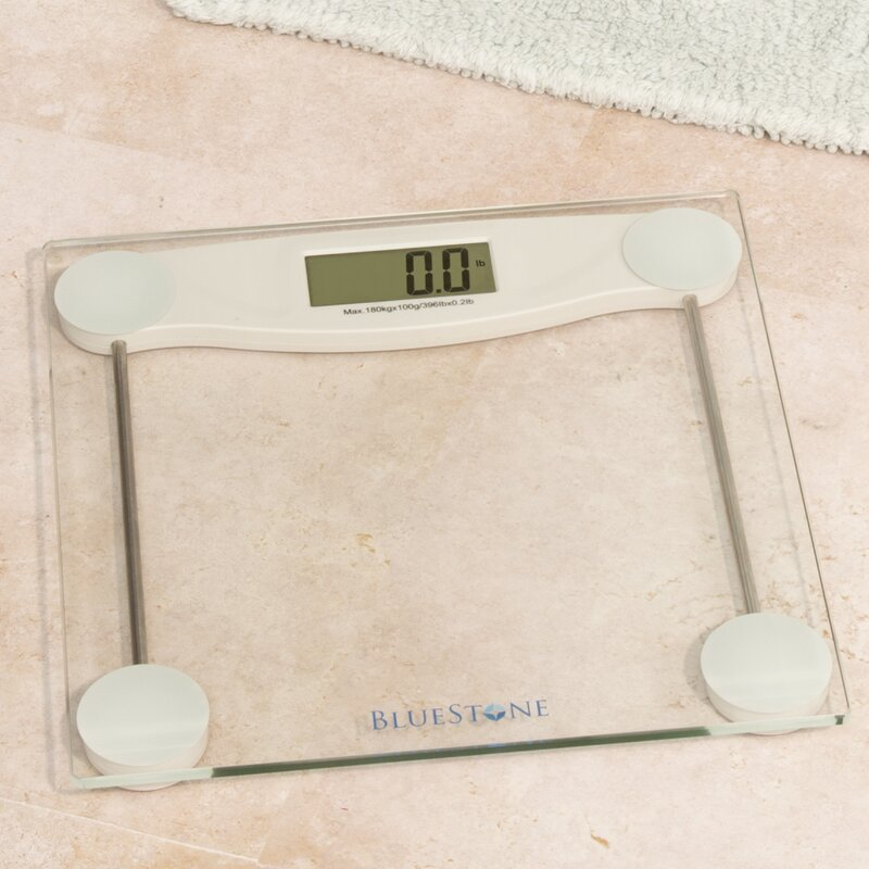 bluestone digital glass bathroom scale with lcd display & reviews