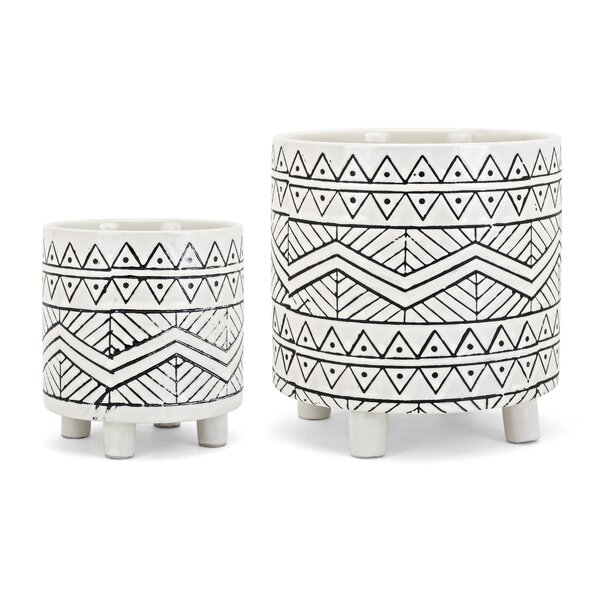 Fasching 2-Piece Pot Planter Set by Bungalow Rose