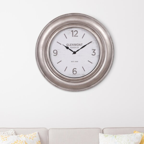 Oversized Glenmont Wide Framed 30 Wall Clock by Nielsen Bainbridge