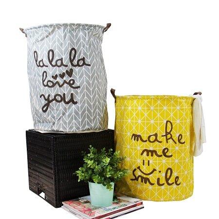Happy Smile Laundry Basket (Set of 2) by Brayden Studio