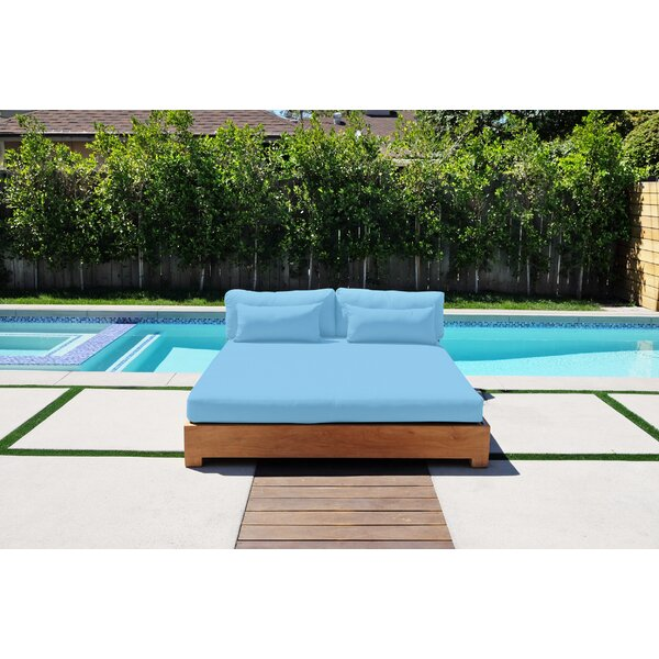 Dalewood Teak Patio Daybed with Sunbrella Cushions by Foundry Select