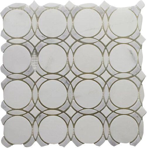 Carrara Infinity Pure Wall 12 x 12 Natural Stone Mosaic Tile in White by Seven Seas
