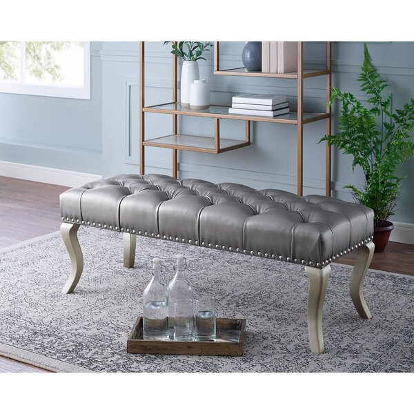 Garza Faux Leather Bench by House of Hampton