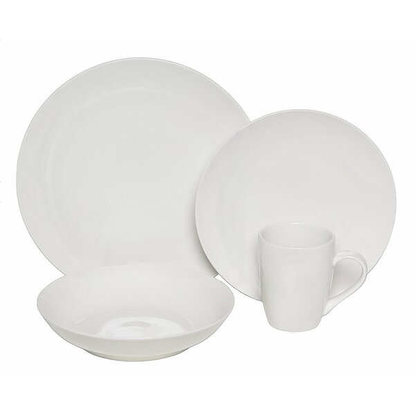 Floriana Porcelain Coupe 16 Piece Dinnerware Set, Service for 4 by Darby Home Co