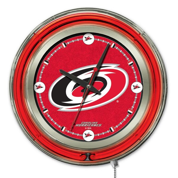 NHL 15 Double Neon Ring Logo Wall Clock by Holland Bar Stool| @ $216.00
