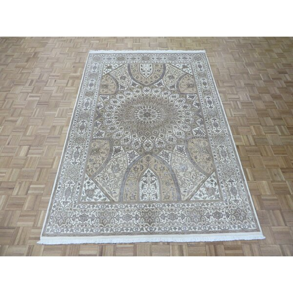 One-of-a-Kind Padro Gombad Hand-Knotted Wool Ivory Area Rug by Bloomsbury Market