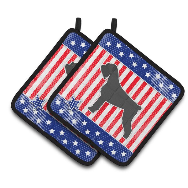 Patriotic USA Giant Schnauzer Potholder (Set of 2) by Caroline's Treasures