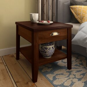 Stonington End Table With Storage� by Three Posts