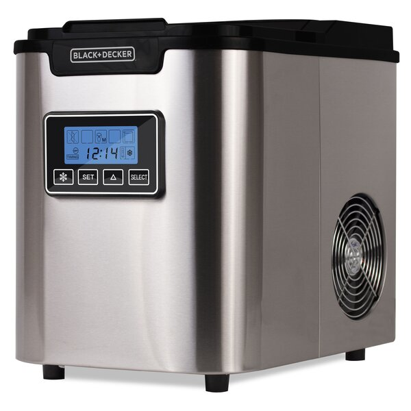 26 lb. Daily Production Portable Clear Ice Maker b