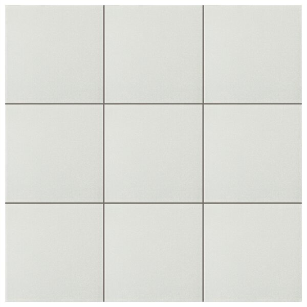 Forties 7.75 x 7.75 Ceramic Field Tile in White by EliteTile