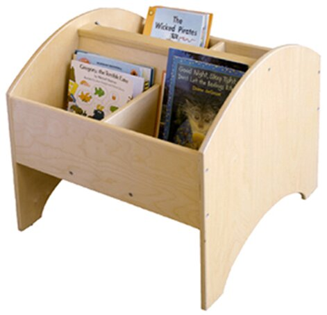Toddler Arch 4 Compartment Book Display with Casters by A+ Child Supply