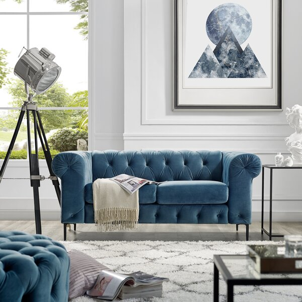 Kohl Chesterfield Loveseat by House of Hampton