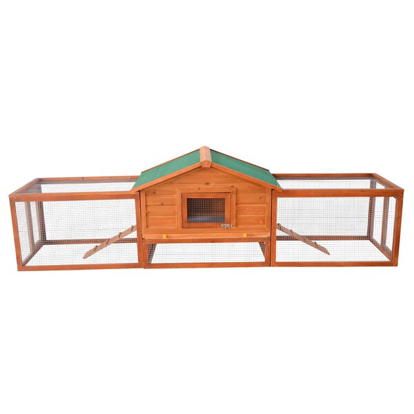 Auggie Deluxe Rabbit Hutch Chicken Coop with Double Outdoor Runs by Archie & Oscar