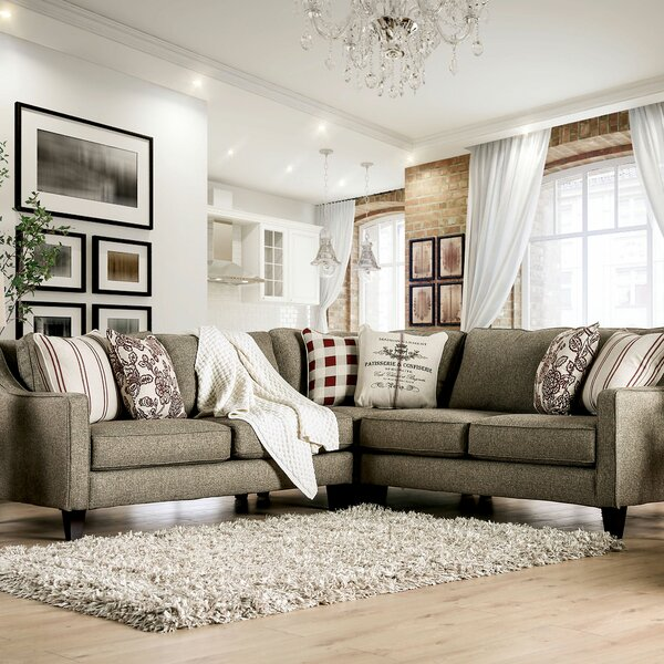 WoodWard Symmetrical Sectional by Canora Grey