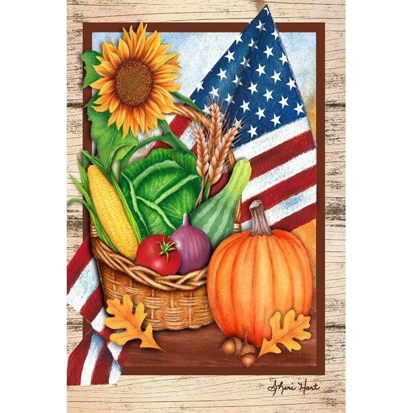 American Harvest Garden flag by Toland Home Garden