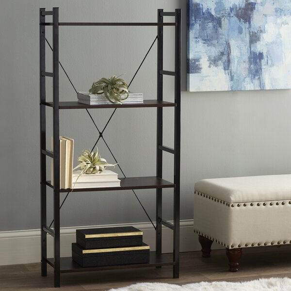 Dark Walnut Etagere Bookcase by Zipcode Design