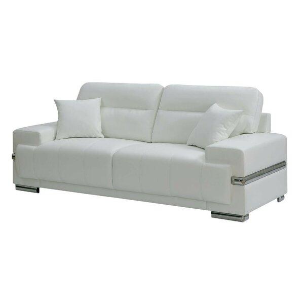 Suwalski Breathable Leatherette Sofa by Orren Ellis