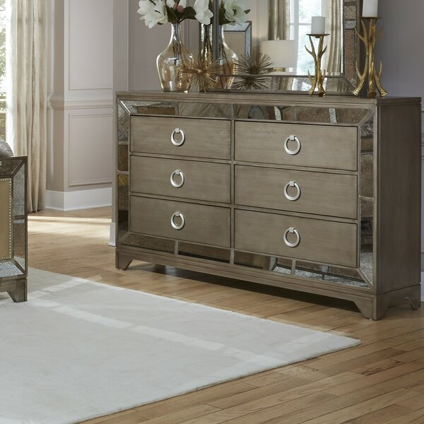 Faribault 6 Drawer Double Dresser by Everly Quinn